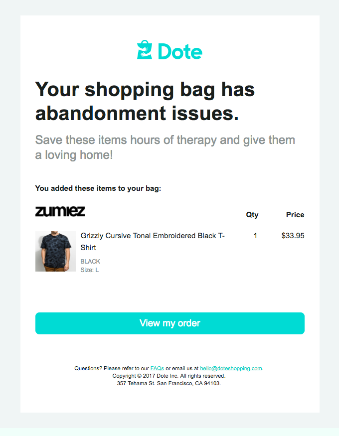 Your shopping bag misses you!