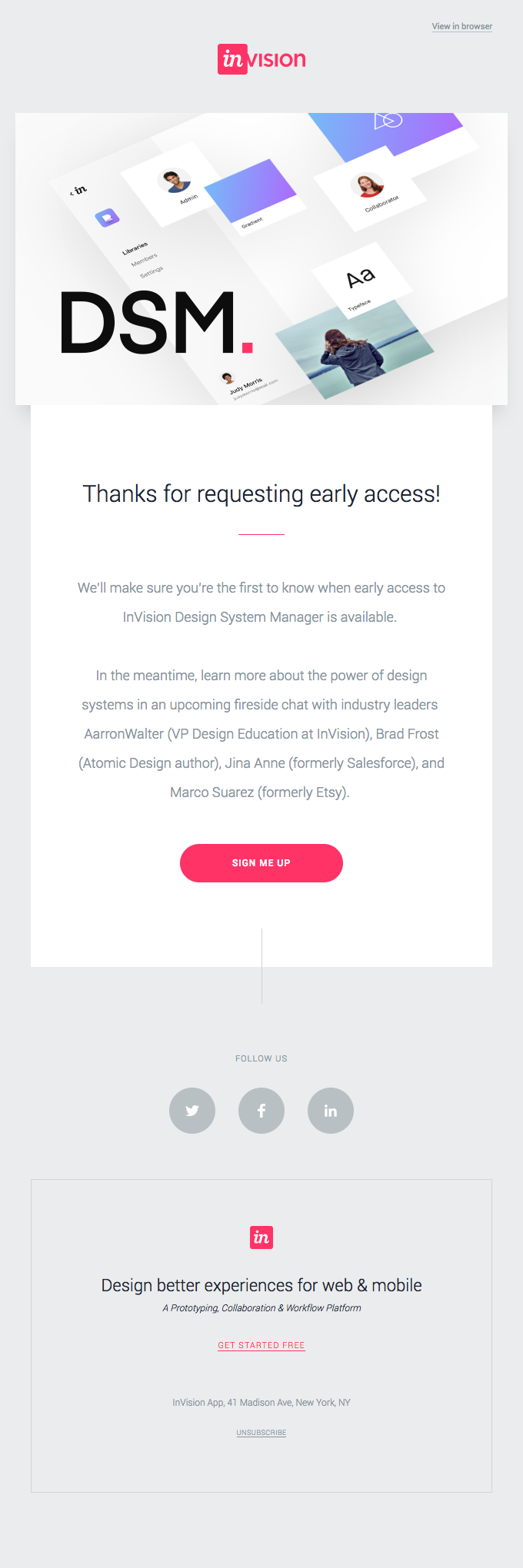 You're first in line for InVision's Design System Manager